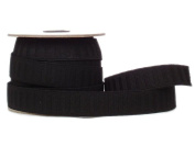 Conrad Jarvis Designer's Choice Elastic No Roll Reel Black 1x 15yd 15 Yards