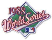 2 Patch Pack - 1988 World Series MLB Baseball Patches Los Angeles Dodgers vs Oakland A's