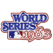2 Patch Pack - 1983 World Series MLB Baseball Jersey Sleeve Patches - Baltimore Orioles over the Phi