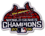 2 Patch Pack - St. Louis Cardinals 2006 World Series Champions MLB Baseball Jersey Sleeve Patches