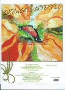 Orange Butterfly Art Quilt Pattern