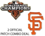 San Francisco Giants Combo 2012 World Series Champions Ring Ceremony and SF Jersey Patches