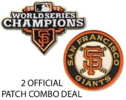 San Francisco Giants Combo 2012 World Series Champions Ring Ceremony and SF Round Logo Jersey Patche