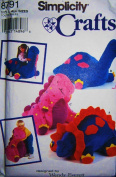 Simplicity 8791 Dinosaur Pillow Pet Sewing Pattern