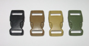 100 Count 4 Colours 1.6cm Side Release Paracord Buckles Non-adjusting