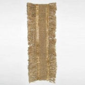 Kurt Adler Lurex Burlap Fringed Ribbon Decor, 10-Yard