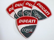 Ducati Corse MotorGP Superbike Patches Limited 5pcs Embroidered Patch SIZE : 7.6cm x 8.3cm