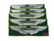 Aston Martin Vanquish Patches Limited 5pcs Embroidered Patch SIZE : 3.2cm x 12cm