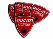 Ducati Corse MotorGP Motorcycle Patches Limited 5pcs Embroidered Patch SIZE : 7.6cm x 8.3cm