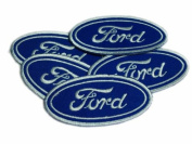 Ford Logo Patches Motorsports Limited 5pcs Embroidered Patch SIZE : 3.8cm x 8.9cm