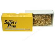 PRYM DRITZ #00 SAFETY PINS 1.9cm Brass