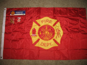 Fire Dept Embroidered Flag