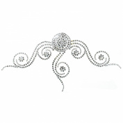 Rhinestone Transfer Hot Fix Motif Fashion Design Tattoos Decorate Circle Line a 3 Sheets 8.6*11cm