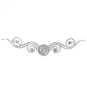 Rhinestone Transfer Hot Fix Motif Fashion Design Tattoos Decorate Circle Line B 3 Sheets 2.2*26cm
