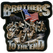 BROTHERS TO THE END Awesome LARGE BIKER BACK Vest Patch