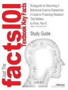 Studyguide for Becoming a Behavioral Science Researcher