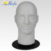 Male MANNEQUIN head with holder base display wig hat glasses