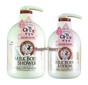 MILK BODY SHOWER 750ml + BODY LOTION 500ml SET