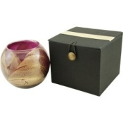Amethyst Candle Globe - The Inside Of This 10cm Polished Globe Is Painted With Wax To Create Swirls Of Gold And Rich Hues And Comes In A Satin Covered Gift Box. Candle Is Filled With A Translucent Wax And Scented With Mysteria. Burns Approx. 50 Hrs