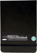 Monsieur Notebook Leather Journal - Landscape Black Sketch Medium