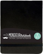 Monsieur Notebook Leather Journal - Landscape Black Sketch Small