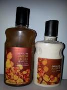 Bath & Body Works Pleasures Sensual Amber Body Lotion (240ml) and Bubble Bath