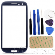 BLUE FRONT OUTER SCREEN GLASS LENS REPLACEMENT FOR SAMSUNG GALAXY S3 I9300