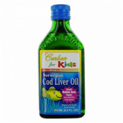 Carlson by For Kids Norwegian Cod Liver Oil Great Bubble Gum Taste--250ml