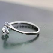 HOT Women 18K Rose gold GP  .   Crystal Engagement Wedding Band Ring