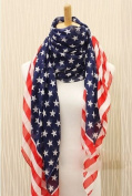 DGI MART Fashion Long Soft Wrap Lady Shawl Polka Dots Print Chiffon Long Scarf Scarves Stole