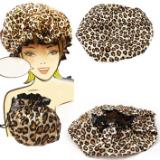 Mademoiselle Shower Cap Bouffant Pouch Hat Bath Hair Waterproof Spa Bathing Gift