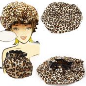 Mademoiselle Shower Cap Bouffant Pouch Hat Bath Hair Waterproof Spa Bathing Gift