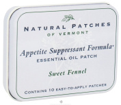 Natural Patches of Vermont - Appetite Suppressant Formula Essential Oil Body Patches Sweet Fennel - 10 Patch
