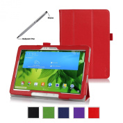 ProCase for Samsung Galaxy Tab PRO 10.1 Tablet Case with bonus stylus pen - Tri-Fold Smart Cover Stand Case for Galaxy TabPRO 26cm SM-T520,T525