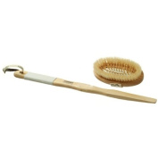 Long-Handled Rubber Grip Bath & Massage Brush