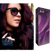 Berina Permanent Hair Dye (A 14) Dark Brown Violet Colour Collection Thai 1 Pack
