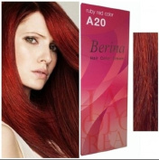 Berina Permanent Hair Dye a 20 (Ruby Red) Colour Collection Thai 1Pack