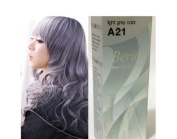 Berina Permanent Hair Dye A21 Colour Light Grey Collection Thai 1 pack
