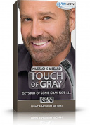 Just for Men Touch of Grey Hair Colour, Moustache and Beard Light to Medium Brown