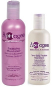 Aphogee Serious Hair Care Double Bundle (Balancing Moisturiser and Twostep Protein Treatment) Plus 1 Free of Apple EYE Pencil Colour