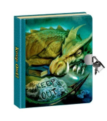 Peaceable Kingdom / NEW! Keep Out! Dragon Picture-Changing Cover Lock & Key Diary