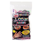 Colourful Loom Bandz 600 METALLIC RAINBOW Rubber Bands with 'S' Clips