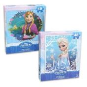 Frozen Princesses Anna and Elsa 48 Piece Puzzles