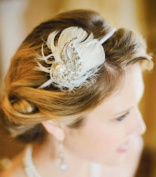 Celebrate It Pearl Feathers Wedding Headband