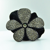 Twinkle Flower Crystal Scrunchies