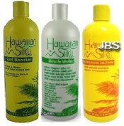 Hawaiian Silky 950ml Big Trio Set (Neutralising Solution, Miracle Worker, and Curl Booster) Plus 1 Free of Apple EYE Pencil Colour