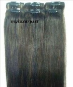 6 Splashes of Very Dark Brown Colour Remy Salon Grade Beauty Supply Clip on Hair Extensions