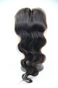 MID Part 4x 4 Lace Closure 25cm 100% Soft Brazilian Virgin Human Hair Body Wave Colour #1b