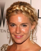 TWO TONE BRAID PLAITED CHUNKY HAIR HEADBAND BLONDE MIX HAIR PIECE