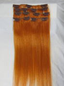 """6color2014springfashiontrend#blue/#yellow/#f-red/#red/#orange/#purple20""""-70cm Human Hair Remy Straight Clips in Extensions Wholesale 8pcs 105g"""